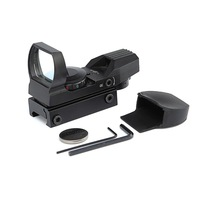 Red Dot Sight, 4 Reticles Red Green Dot Gun Sight Scope Reflex Sights, Black/ 5 Brightness Levels 20mm Mount 33mm Reflex Lens an