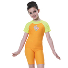 American Girl Child Swimwear Short Sleeve Top Knee Length Bottom Swimsuits for Kids