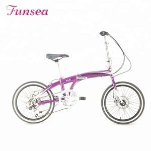 "2018 fashionable 20"" alloy frame 7 speeds cheap mini lady woman cycle bicycle china folding city bike"