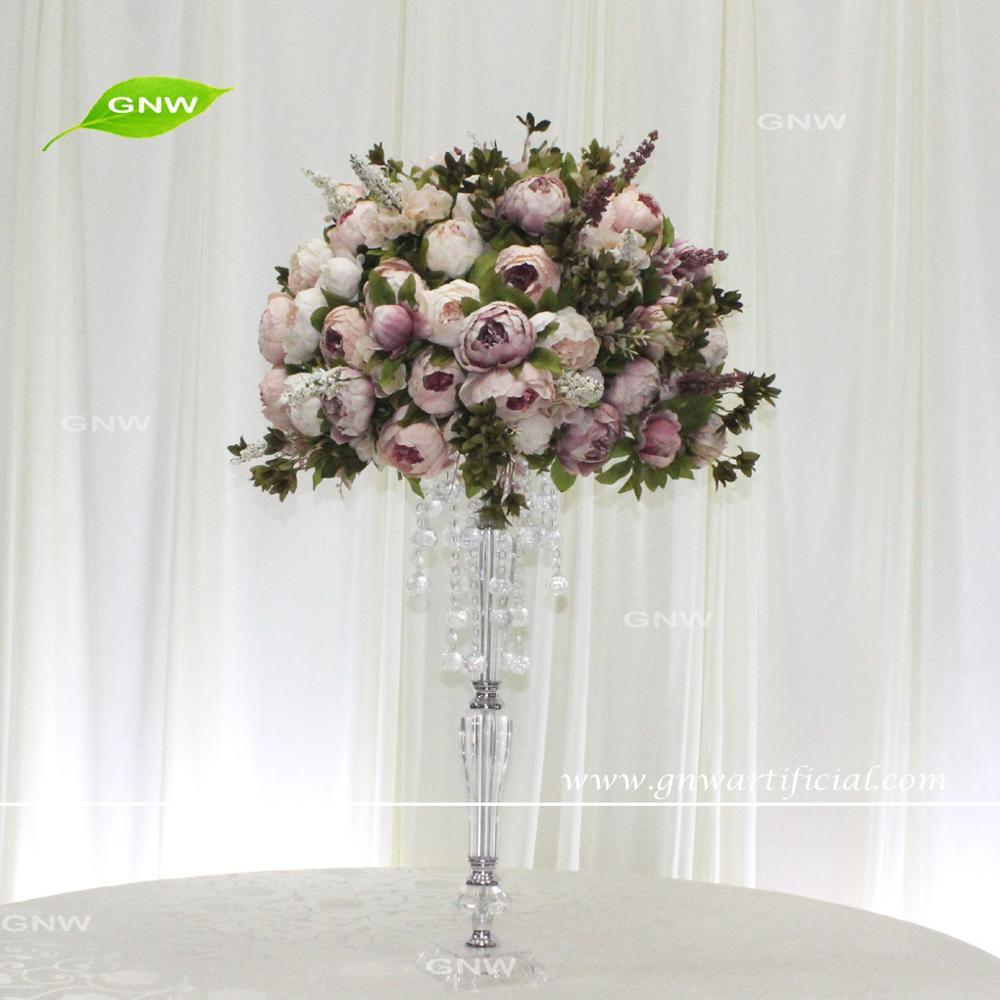 Gnw Tree Wedding Centerpieces Silk Peach Blossom Artificial Tree ...