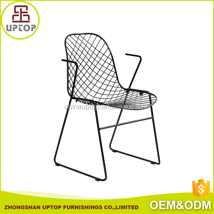 Metal Bertoia Wire Chair, Bertoia side metal armchair with for Dining Room