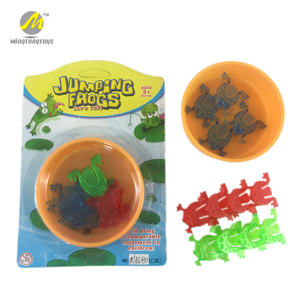 Interesting mini frog game plastic jumping frog toy foe kids