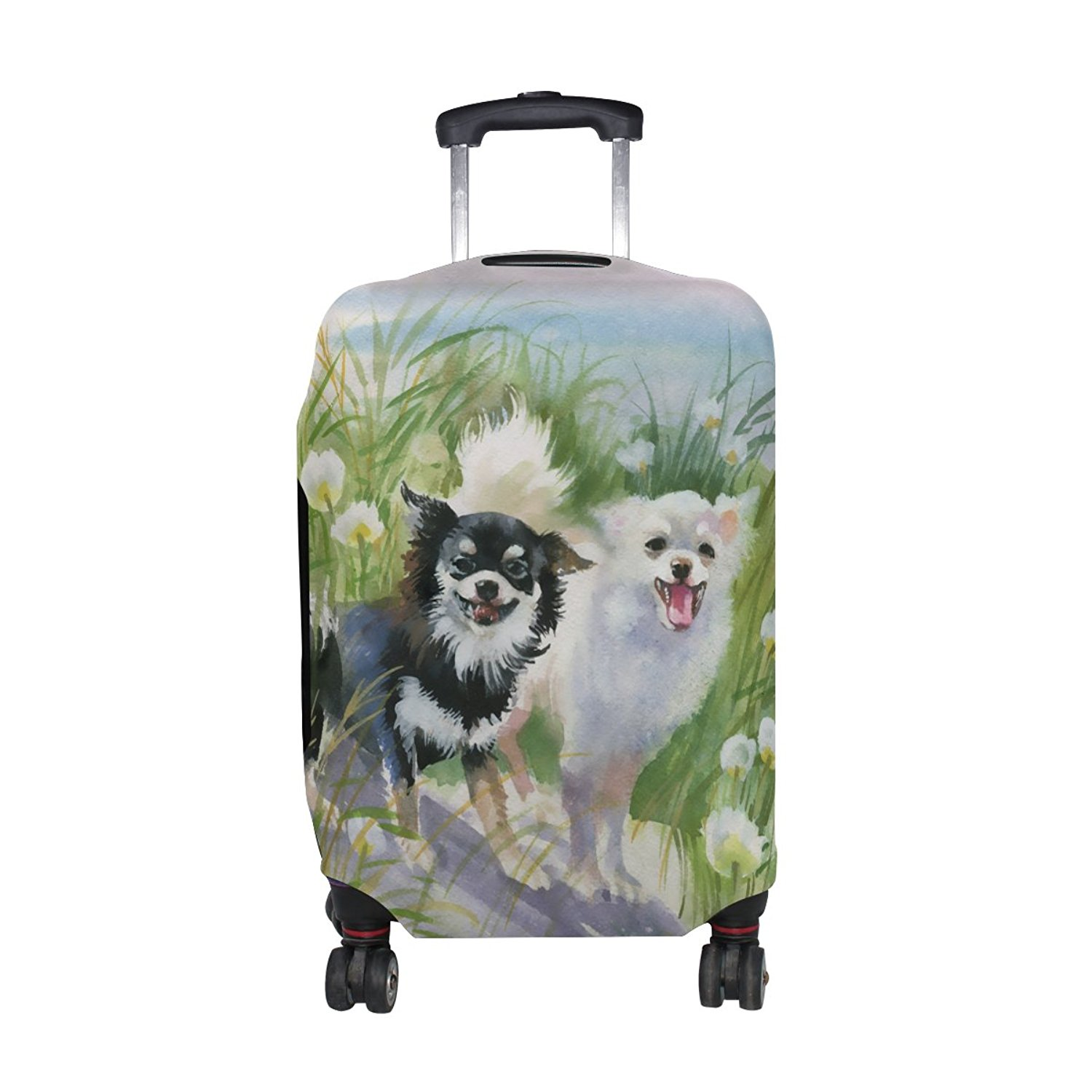 Animal Brid Pelikan Lightbrown Pattern Print Travel Luggage Protector Baggage Suitcase Cover Fits 18-21 Inch Luggage