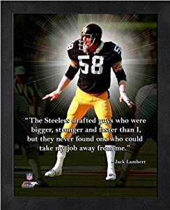 Jack Lambert Pittsburgh Steelers Pro Quotes Framed 8x10 Photo #2