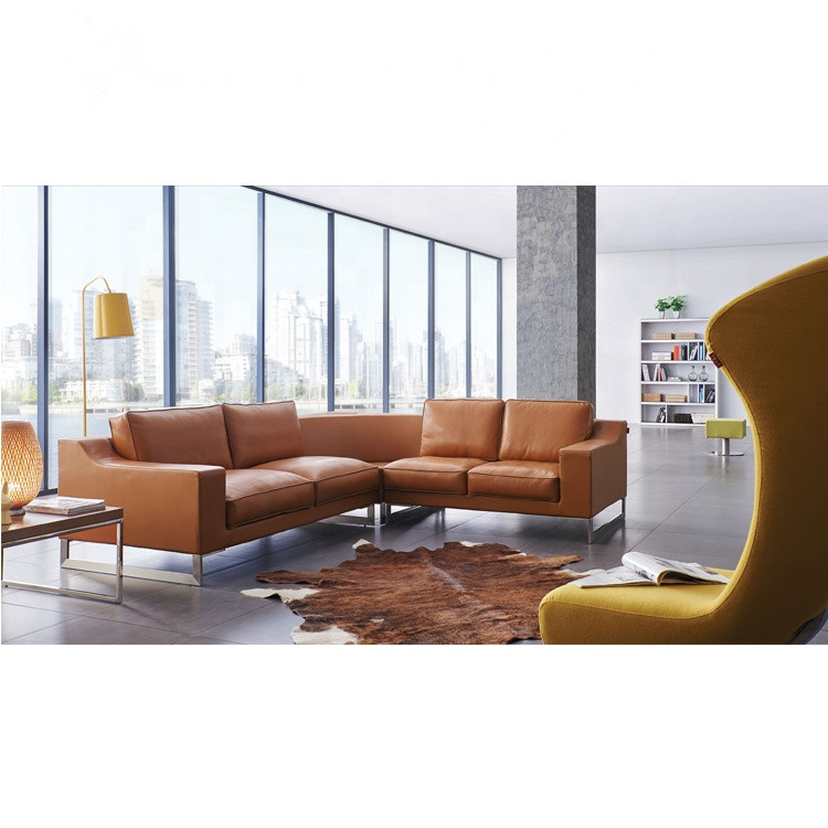 Leather Sofa L Shaped 7 Seater Set