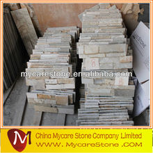Yellow wood slate ledger stone