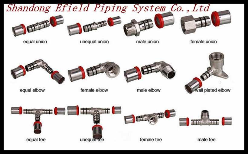 Different types pipe brass fittings for pex pipe pex al for Types of pipes used in plumbing