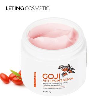Free samples 80g best natural anti age whiten goji berry face cream