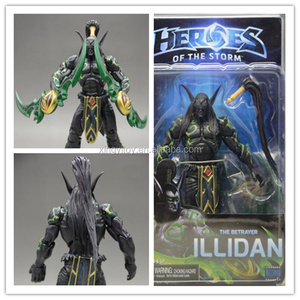 "NECA Heroes of the Storm the betrayer Illidan 7""black toy action figure"