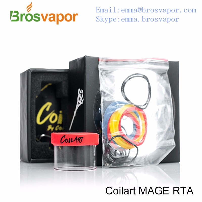 In Stock !gemini rta mega CoilART MAGE RTA Rebuildable Tank Atomizer 3.5ML Silver Authentic
