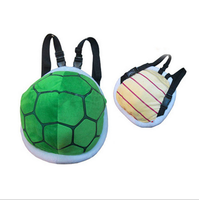 S50583A 2018 Lovely Super Mario Shells Kids Turtle Plush Boy Girl Bags