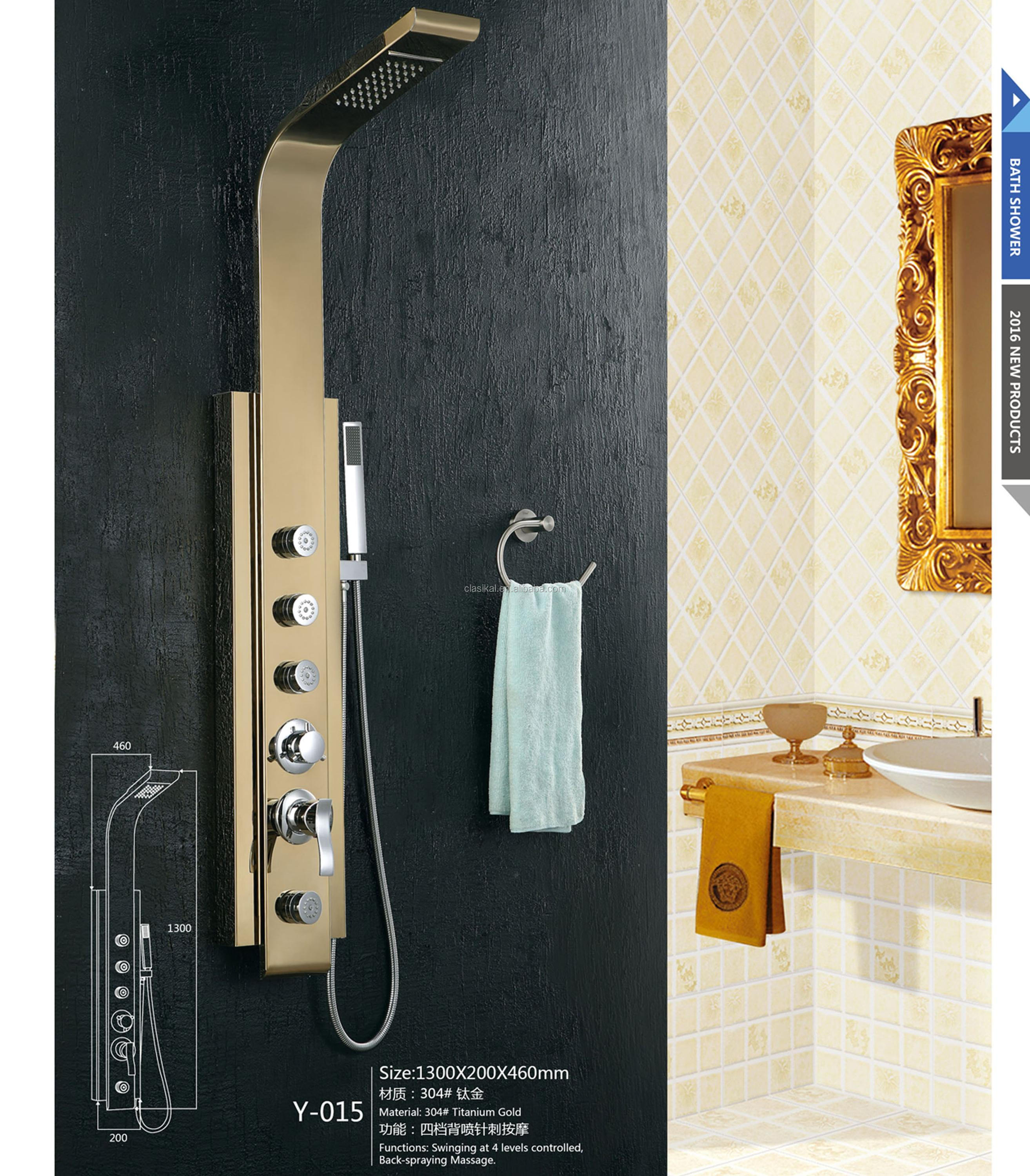 United State Nickler Color Luxury Electronic Shower Control Panel