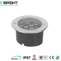 9W IP67 round led in ground well lights