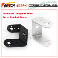 Feetech Fitec Low Price Aluminum Oblique U Robot Servo Bracket 54mm FK-XS-001