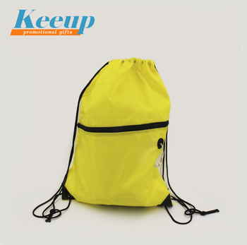 Promotional Polyester Fabric Backpack Drawstring Bag with Printed Logo