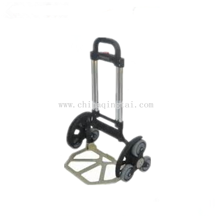 Multi-function folding six wheel hand trolley for climbing stairs hand pull trolley
