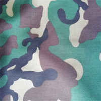Flame Retardant Ripstop cotton camouflage print twill woven fabric