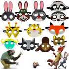 Funny Zootopia Cartoon Fox Rabbit Bunny Sloth Sheep Goat Animal Felt Mask For Children Kids Halloween Mask