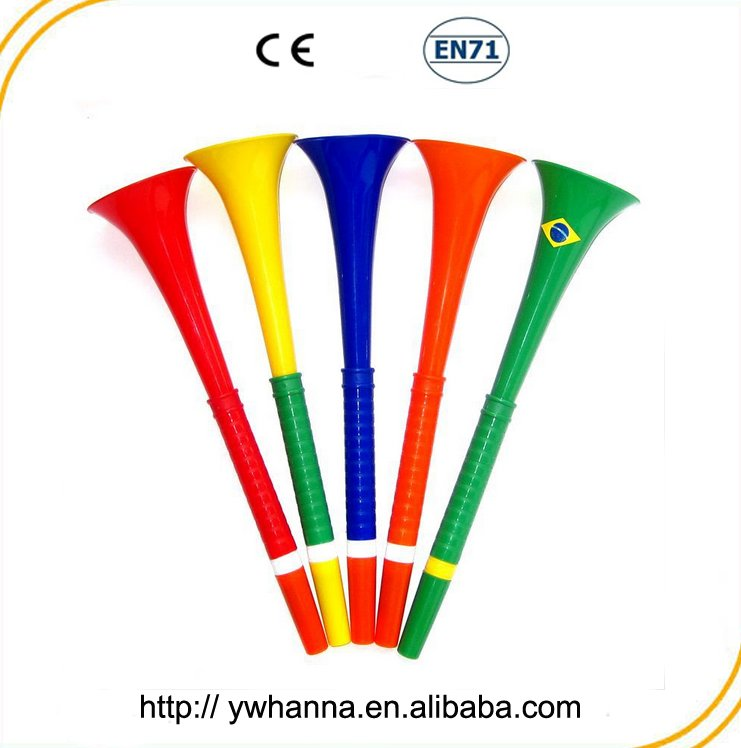 wedding favor long cheap plastic blow horns for game