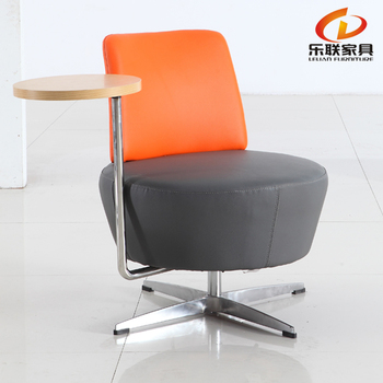 Project Used Armless Chair With Tablet Writing Pad Meeting Room