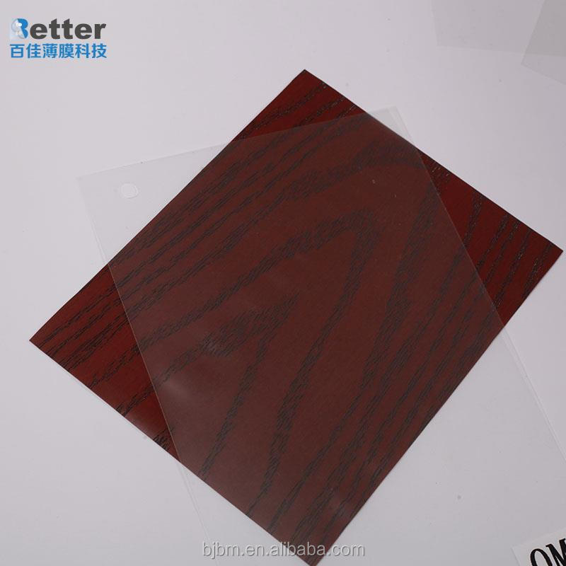 PVC rigid film for covering kitchen cabinet