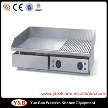 1/2 Flat Plate,1/2 Grooved Plate Electric Griddle