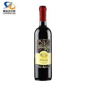 Custom High Quality Private Wine Hot Selling Wine Label Seal Packaging Hologram Label Wine Bottle Neck Label Size