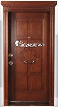 Villa Turkish Style Steel Wood Armoured Entry Door