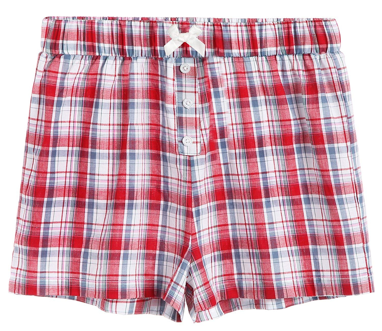 013f45e4a6 Recommended For You. Latuza Women s Sleepwear Cotton Plaid Pajama Boxer  Shorts