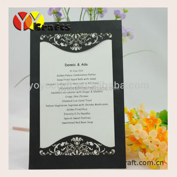 Unique Simple Wedding Invitation Card For Party And Event Black