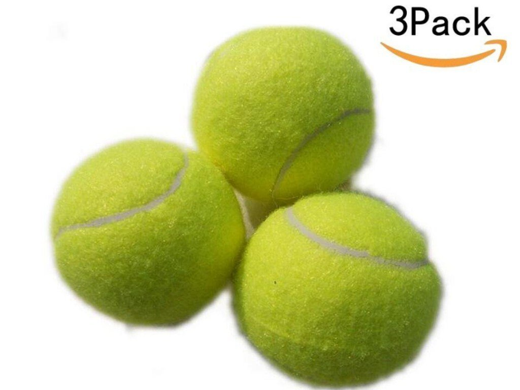 EBDcom Training Tennis Balls,Pressureless,Training Balls For Lessons, Practice, Playing With Pets,Yellow-Green (3pack)