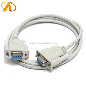 DB9 RS232 Serial Female to Female Cable 9Pin RS232 Null Modem Cable 2Meter