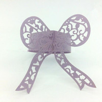 Customized bowknot High Quality Laser Cut paper Napkin rings CK24