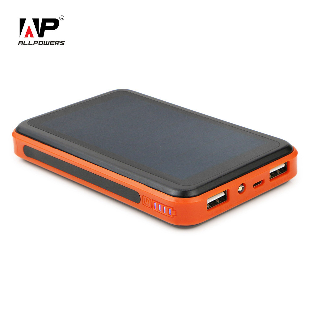 New Solar Power Bank 10000mah bateria externa external battery solar charger powerbank for iPhone for HTC for PSP