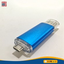 Customized made top grade special China alibaba otg usb flash drive 2g with logo printing