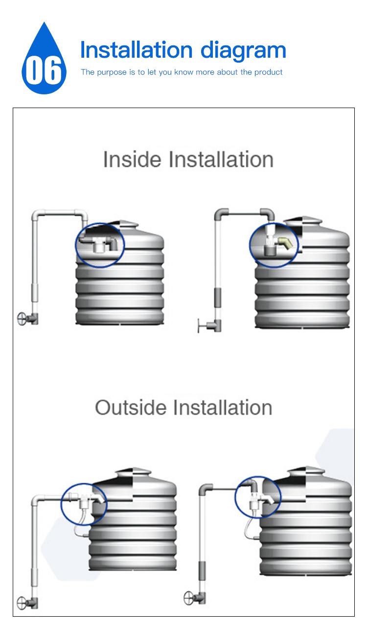 صمام التحكم الآلي في مستوى الكرة لخزان المياه والتخزين