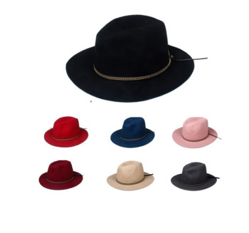 wholesale fedora Hats For Women Cashmere Wool Fedoras Panama Hat Autumn  Winter Trilby Gorro Chapeau fab4f76232ab