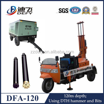 Dfa 120 pneumatic water well drilling rigrock excavation dfa 120 pneumatic water well drilling rig rock excavation equipment sciox Image collections