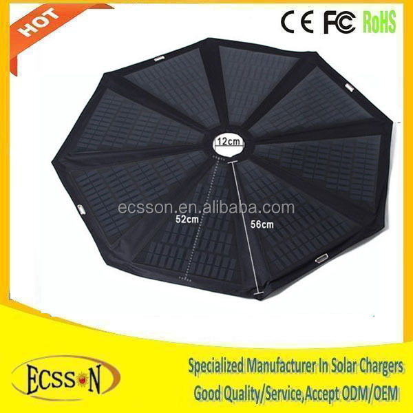 Popular 60Watt solar charger umbrella for beach/square , solar umbrella and solar panel umbrella with solar panel