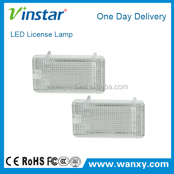 1day delivery 2PCS super xenon white new license plate LED for ford with e-mark approved