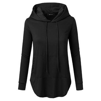 Autumn Sweatshirts For Girls 2018 Black women's Gown Hoodies Ladies Plain Long Sleeve Casual Womens Hoodies
