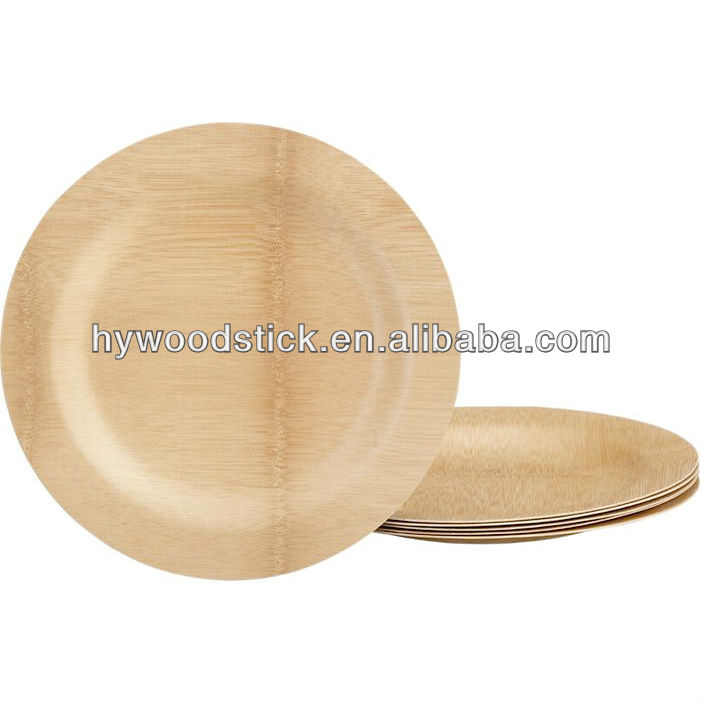 Promotional Wood Bamboo Plate In Bulk