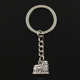 Fashion 30mm Key Ring Metal Key Chain Keychain Jewelry Antique Silver Plated roman colosseum rome italy 16*13mm Pendant