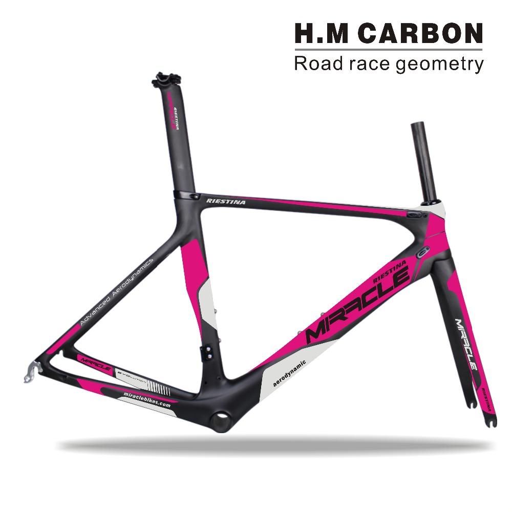 Logo printing and decal customization t700 toray high modulus bicycle carbon fiber road bike frame mc186