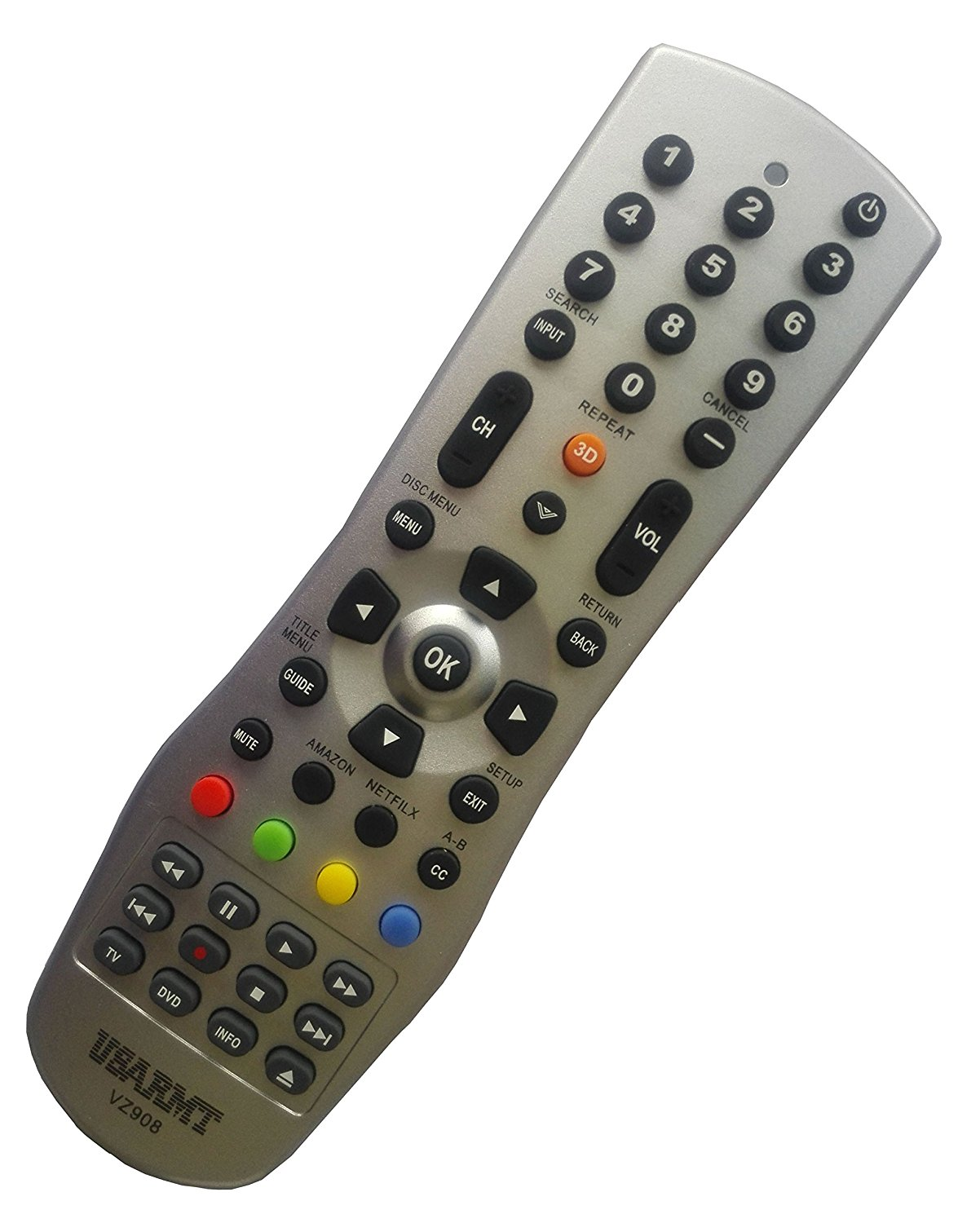 NEW Vizio Universal TV&DVD Blu-ray Player Remote Fit for 99% Vizio Plasma LCD LED 3D TV & DVD Blu-ray Player, replace VR1 VR2 VR3 VR4 VR15 VR17 XRT112 XRT510 XRB100. No need to set up, easy to USE!