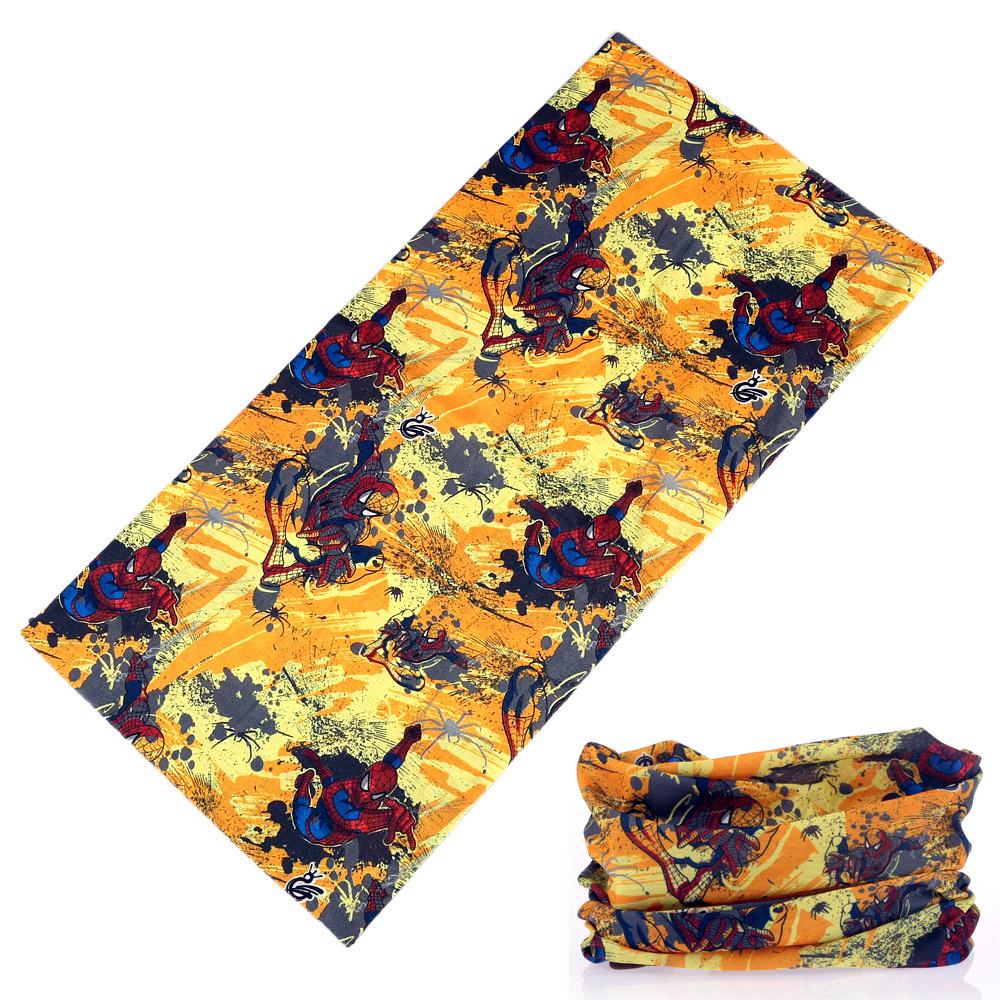 Apparel Accessories 55x55cm Yellow Spider Cotton Bandanas Men Pocket Square Ladies Headband Headscarf Women Neckerchief Headwear Handkerchief Carefully Selected Materials