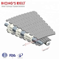 Hot-sale plastic plate top turning conveyor belt HS-2000A