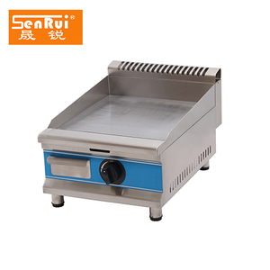 Commercial All smooth 280*580*345mm mini Gas countertop hamburger griddle