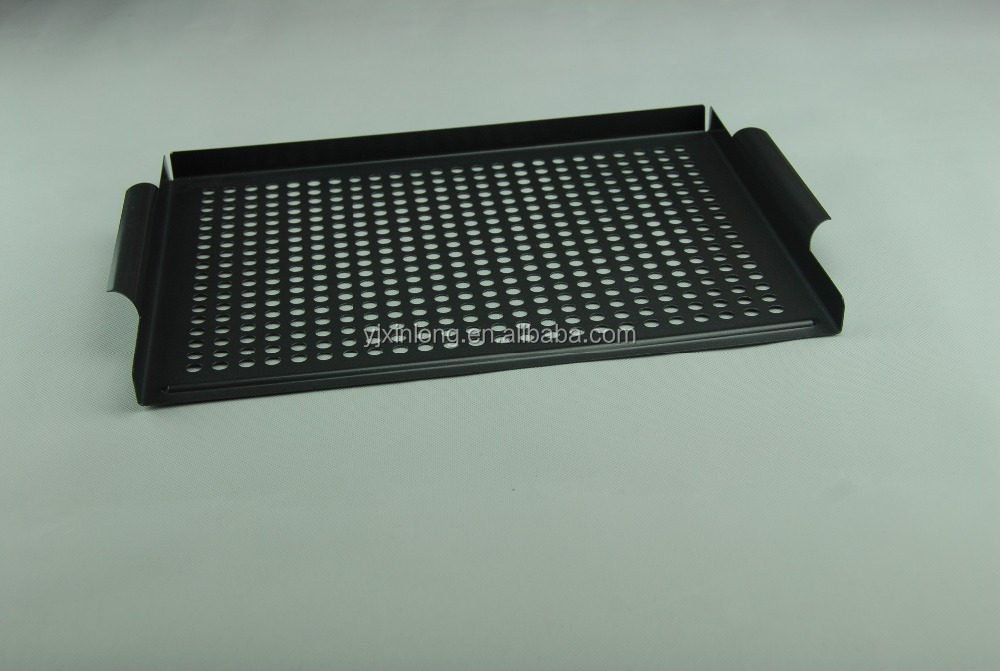 Carbon steel charcoal BBQ grill basket