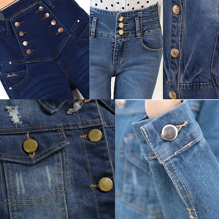 New style Engraving Logo Round denim jeans 액세서리 Buttons Custom Metal 합금 섕 진 Button